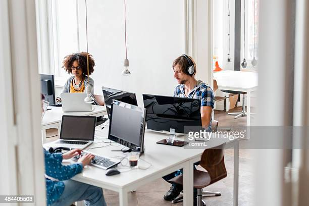 New Business People Working In Cool Office Space