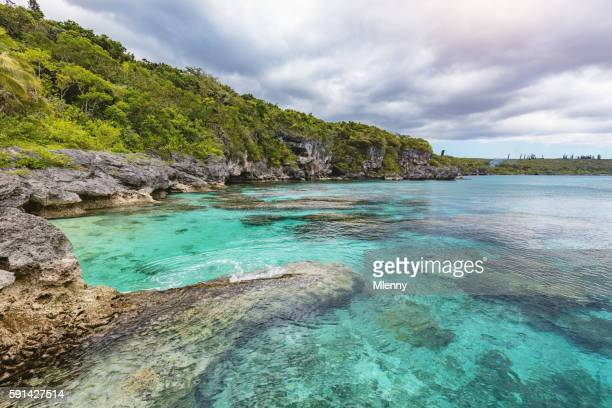 new caledonia maré island nord bay loyalty islands - nord frankrijk stockfoto's en -beelden