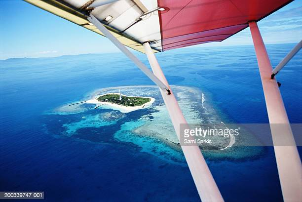 New Caledonia, Noumea, Lighthouse Island, view from microlite
