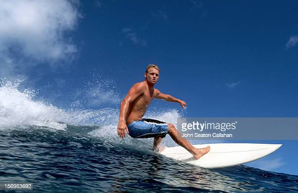 New Caledonia, surfing on the Grande Recif.