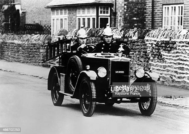New car of 8 CV reaching the speed of 50km per hour for the London firefighters in 1928 in London United Kingdom