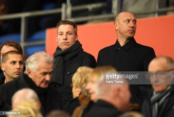 New Cardiff City Manager Neil Harris looks on from the stands prior to kick off during the UEFA Euro 2020 qualifier between Wales and Hungary so at...