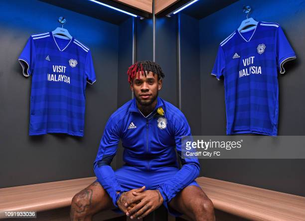 New Cardiff City signing Leandro Bacuna at Cardiff City Stadium on January 31 2019 in Cardiff United Kingdom