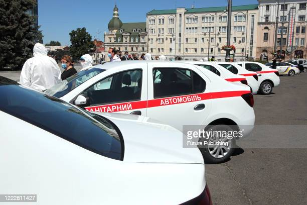 New cars are to be given to Kharkiv hospitals that conduct COVID-19 tests at home, Kharkiv, northeastern Ukraine. - PHOTOGRAPH BY Ukrinform /...