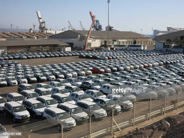New cars export freight cargo port