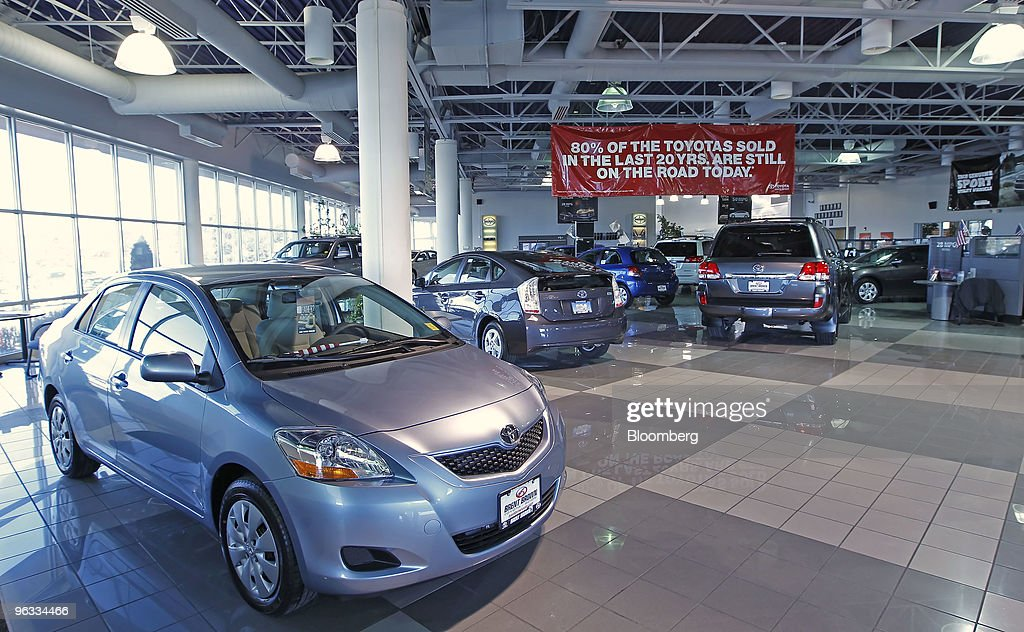 New Cars Sit In The Showroom Of Brent Brown Toyota In Orem Utah US On Monday