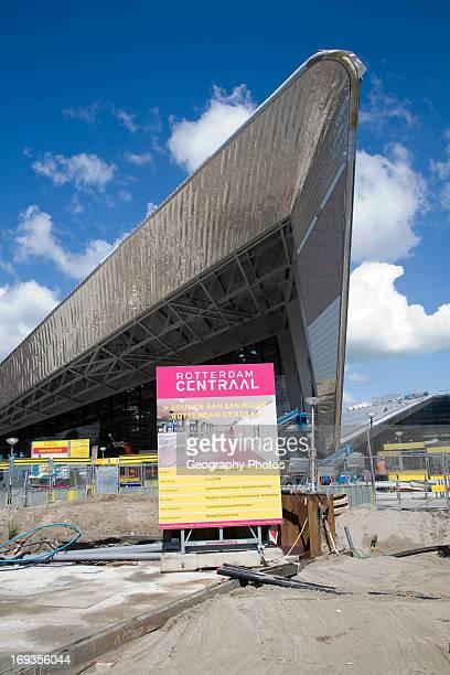 New central railway station under construction Rotterdam Netherlands