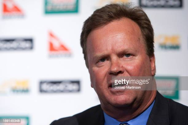 New CEO of Australian Rugby Union Bill Pulver speaks to the media during an ARU press conference at ARU Headquarters on January 9 2013 in Sydney...