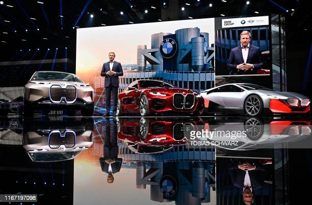 New CEO of German carmaker BMW Oliver Zipse attends a presentation on September 10 during the press days of the International Auto Show in Frankfurt...