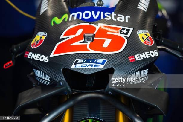 New chassis for Maverick Viñales Movistar Yamaha MotoGP during the tests of the new season MotoGP 2018 Circuit of Ricardo TormoValencia Spain...