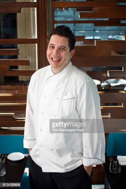 WASHINGTON DC New chef Loris Navone in one of the smaller dining rooms at Bibiana Osteria Enoteca photographed in Washington DC