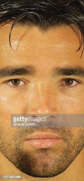 New Chelsea football club signing Portuguese midfielder Deco attends a press conference at the Chelsea FC training ground in Cobham, Surrey on July...