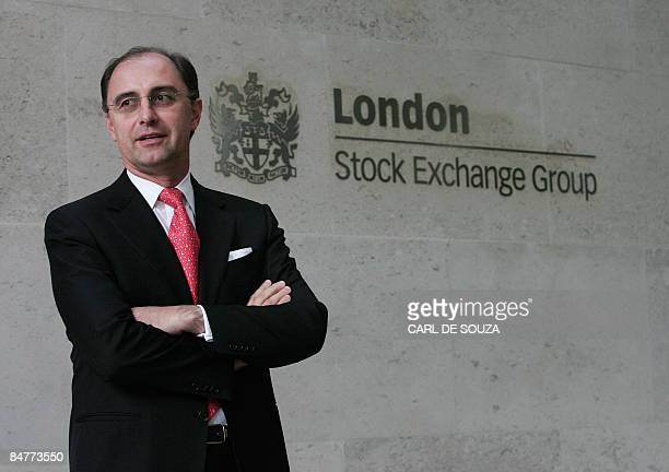 New chief executive of the London Stock Exchange Xavier Rolet poses for the media during a photocall outside the London Stock Exchange in London on...