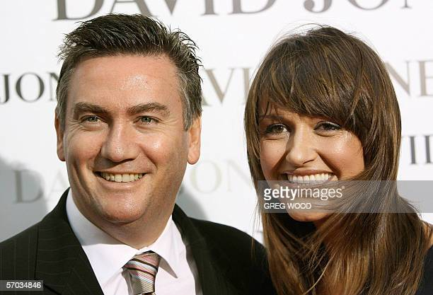 New chief executive officer of the Nine television network Eddie McGuire and his wife Carla attend a fashion launch in Sydney 15 February 2006...