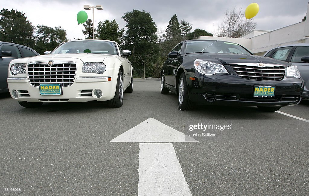 New Chrylser Cars Are Displayed At A Chrysler Dealership March 1 2007 In Martinez