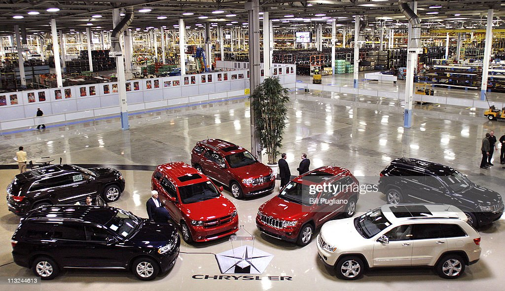 Treasury Secretary Geithner Tours Chrysler Assembly Plant