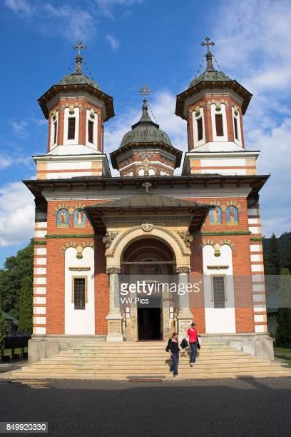 New Church, Biserica Mare, Sinaia Orthodox Holy Monastery, Sinaia, Prahova Valley, Transylvania, Romania.