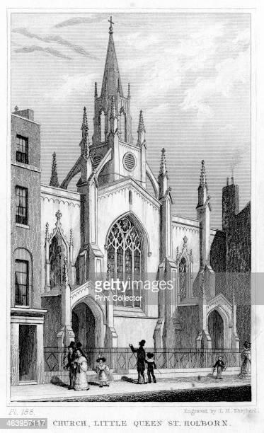 New Church, Little Queen Street, Holborn, London, 19th century.
