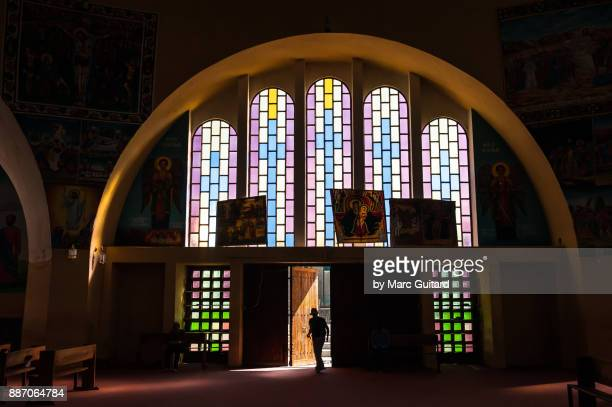 new church of st. mary of zion, axum, ethiopia - ethiopian orthodox church stock pictures, royalty-free photos & images