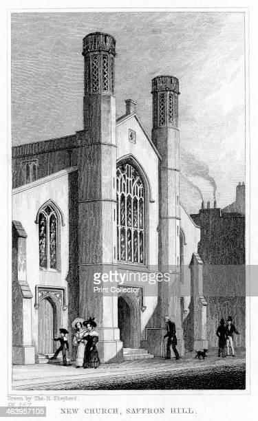 New Church, Saffron Hill, Camden, London, 19th century.