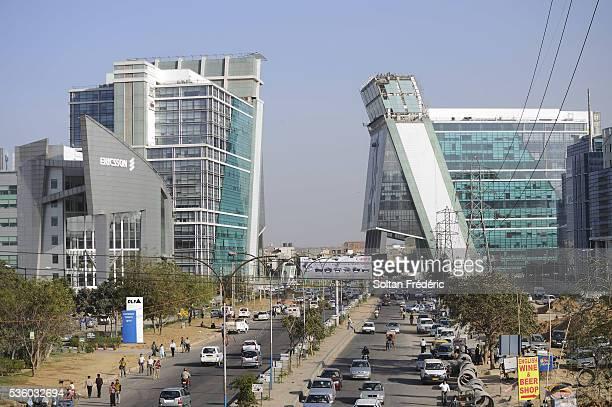 new city of gurgaon in india - ハリヤナ州 ストックフォトと画像