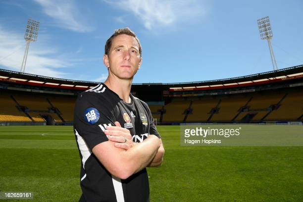 New coach Chris Greenacre poses during a Wellington Phoenix ALeague media session at Westpac Stadium on February 26 2013 in Wellington New Zealand
