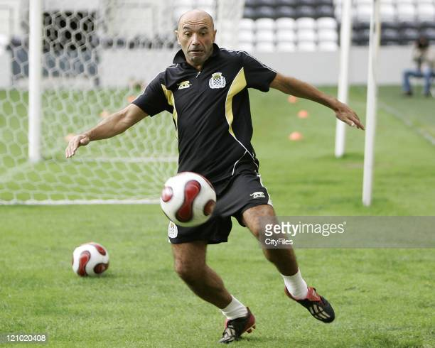 New Coach Jaime Pacheco of Boavista FC during his first training session with the team in Oporto Portugal on October 26 2006