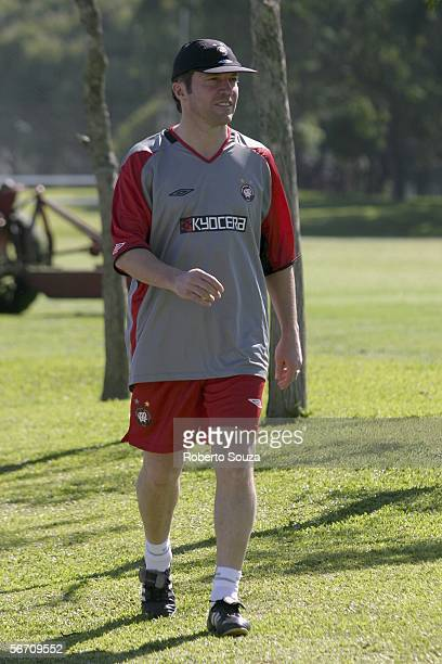 New coach Lothar Matthaeus of Germany looks on during the training session Atletico Paranaense on January 31, 2006 in Curitiba, Brazil.