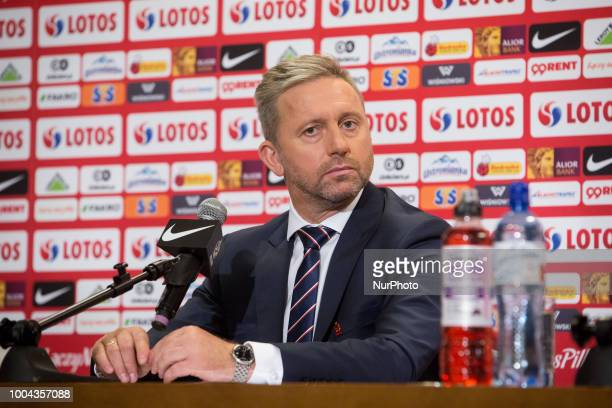 New coach of the Poland national football team Jerzy Brzeczek during a press conference at National Stadium in Warsaw Poland on 23 July 2018 Jerzy...
