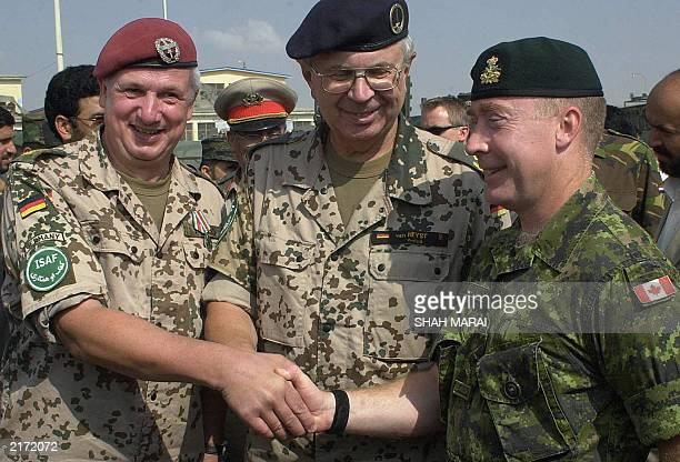 New commander of the Kabul Multinational brigade Canadian general Peter Devlin International Secutiy Assisance Force Lieutenant General Norbert Van...