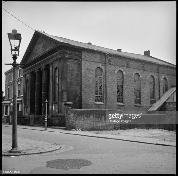 New Connexion Chapel, Lascelles Street, Tunstall, Stoke-on-Trent, 1965-1968. The Methodist New Connexion Chapel viewed from High Street with the...