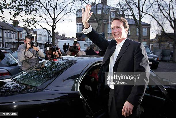 New Conservative party leader David Cameron leaves the Eastside Young Leaders Academy on December 7 2005 in London Mr Cameron faced British Prime...