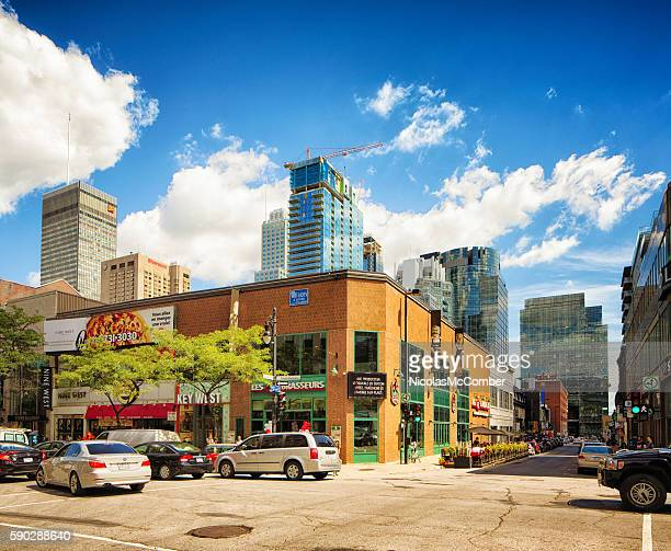 New constructions in Montreal's downtown area