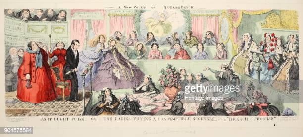 A New Court of Queen's Bench As It Ought to Be or The Ladies Trying a Contemptible Scoundrel for a Breach of Promise pub 1850