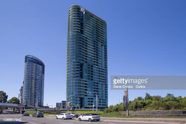 New cracks have been found on a different level of Sydney's Opal Tower building at Olympic Park on January 01 2019 in Sydney Australia