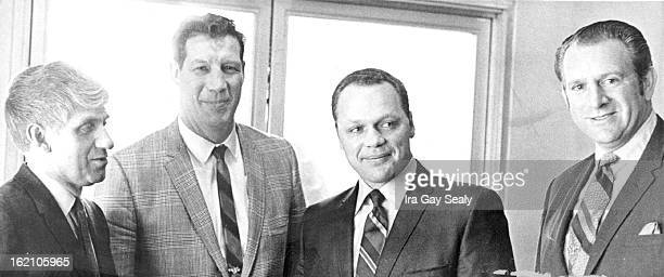 JAN 8 1970 New CSU Football Coach Meets The Press Jerry Wampfler third from left held his first press conference Thursday in Denver since arriving to...