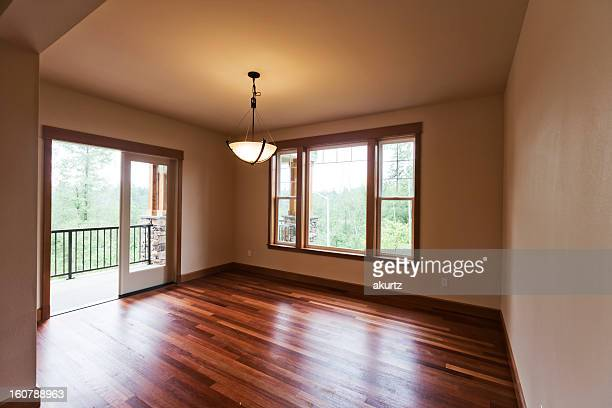 New custom craftsman home interior beautiful hardwood floors patio