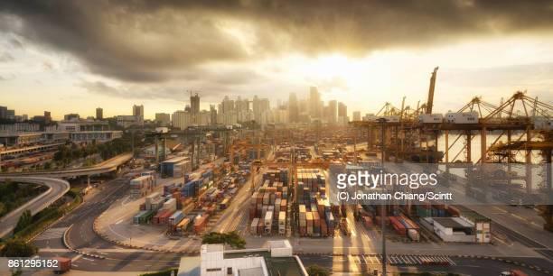 a new dawn - marina bay singapur stock-fotos und bilder