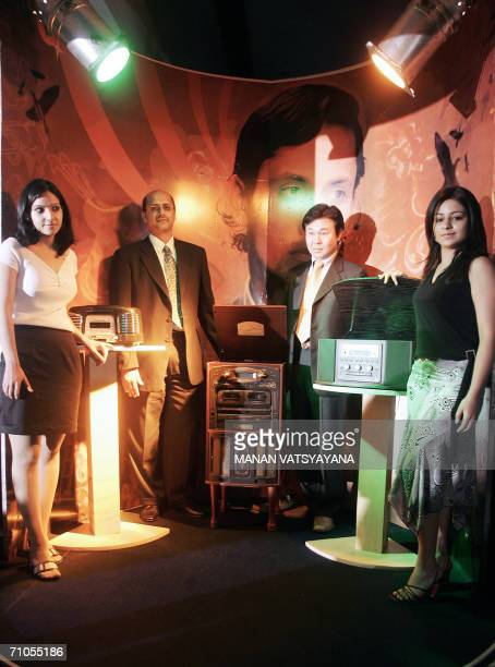 Global Head Consumer Electronics TEAC Corporation Hiroshi Tokushige and Managing Director Salora International Ltd Gopal Jiwarajika along with models...