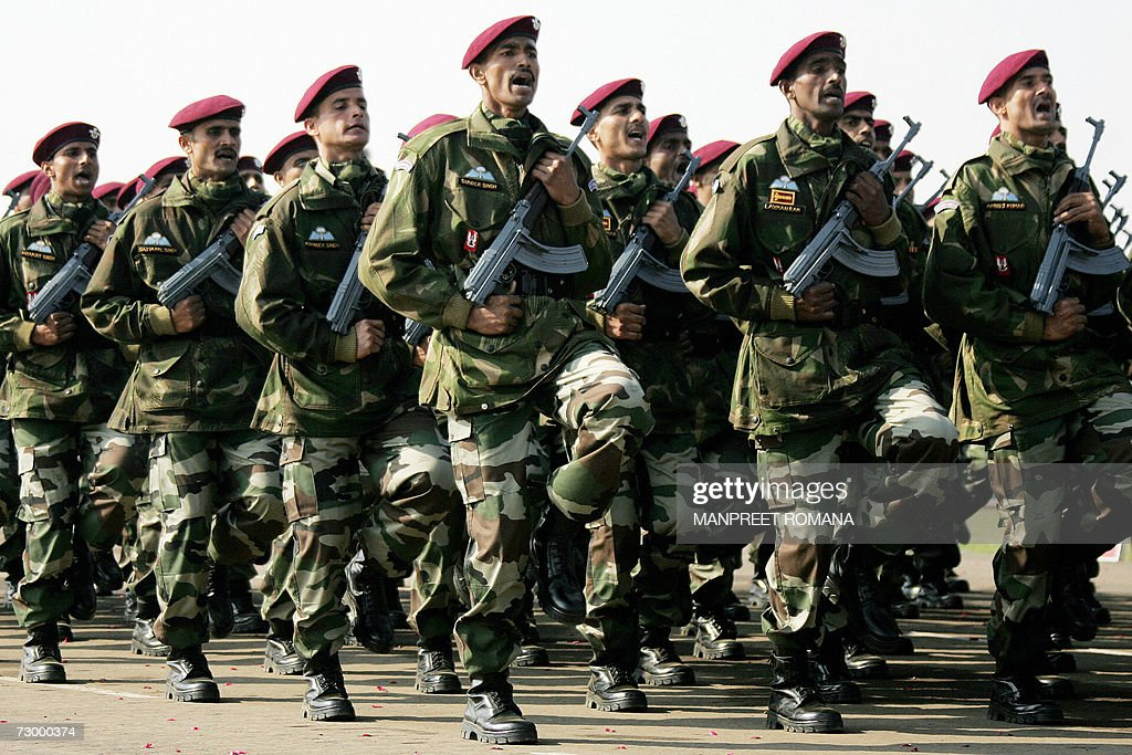 Indian Para-Commandos March Past During The Army Day
