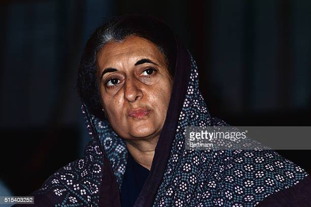 New Delhi, India- ORIGINAL CAPTION READS: Prime Minister Indira Gandhi has assumed virtually absolute power in India 6/27/1975 by jailing hundreds of...