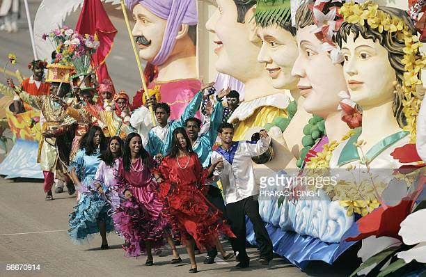 Tableaux of India's state of Goa takes part in the country's 57th Republic Day parade in New Delhi 26 January 2006 India showcased its military might...