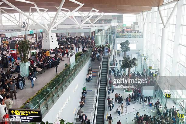 new delhi indira gandhi airport - delhi airport stock photos and pictures