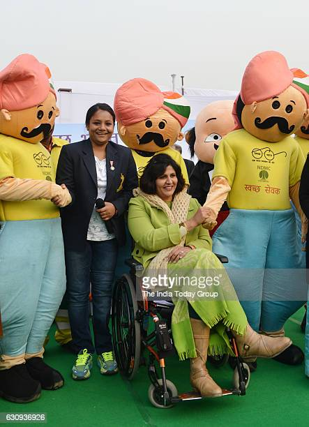 New Delhi Municipal Council announce mountaineer Arunima Sinha and Para Olympic medal winner Deepa Malik as their new brand ambassador of Swachh...