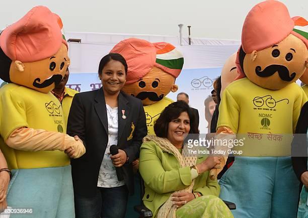 New Delhi Municipal Council announce mountaineer Arunima Sinha and Para Olympic medal winner Deepa Malik as their new brand ambassador of Swachh...