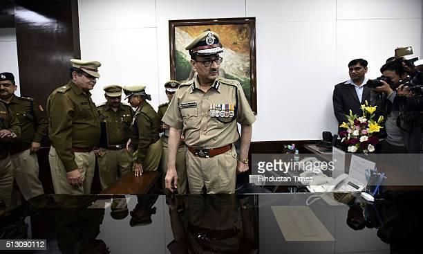New Delhi Police Commissioner Alok Kumar Verma takes over as Commissioner of Police Delhi at PHQ on February 29 2016 in New Delhi India Senior IPS...