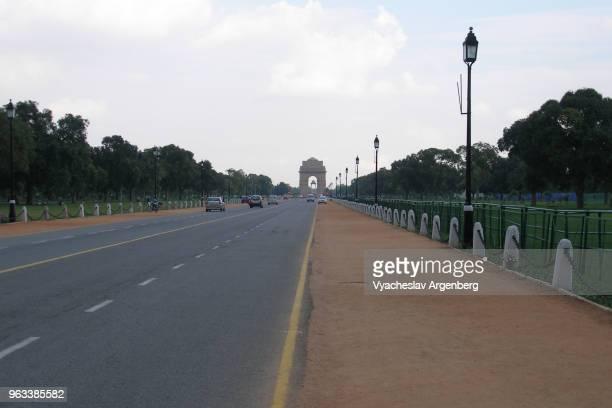 "new delhi, rajpath (kingsway), ""ceremonial axis"" of new delhi, india - ニューデリー ストックフォトと画像"