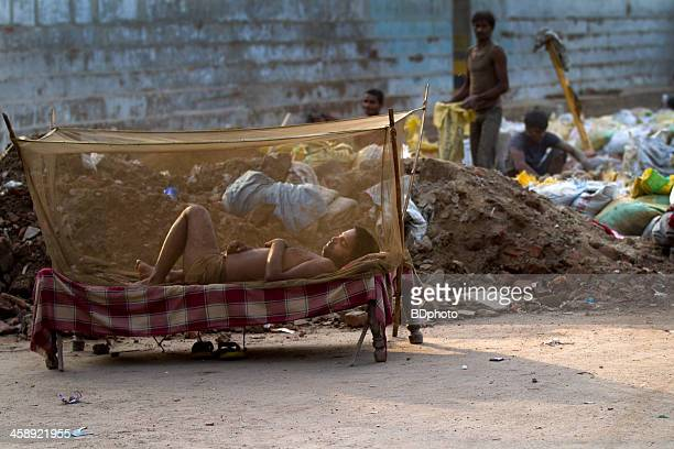new delhi street life - mosquito net stock photos and pictures