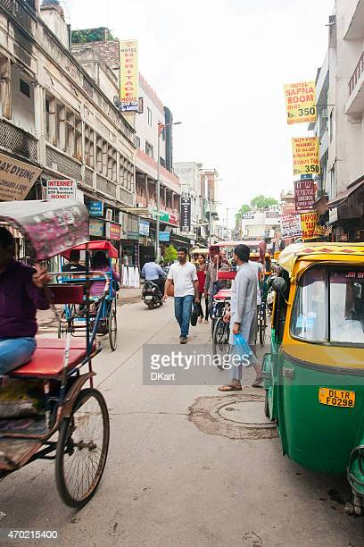 new delhi street - old delhi stock pictures, royalty-free photos & images