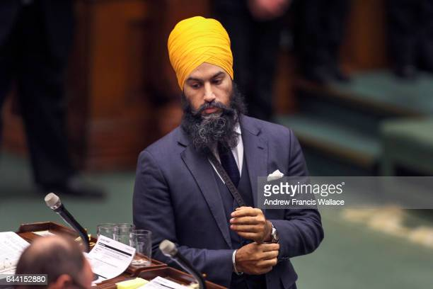 TORONTO ON FEBRUARY 21 New Democratic Government and Consumer Services critic Jagmeet Singh during question period at Queen's Park February 21 2017
